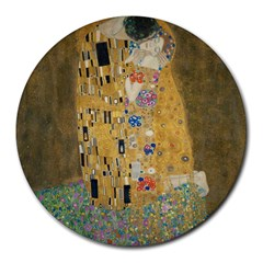 Klimt   The Kiss 8  Mouse Pad (round)