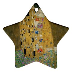 Klimt   The Kiss Star Ornament by ArtMuseum
