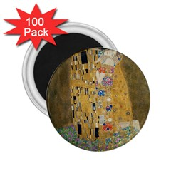 Klimt   The Kiss 2 25  Button Magnet (100 Pack) by ArtMuseum
