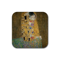 Klimt   The Kiss Drink Coaster (square) by ArtMuseum