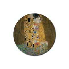 Klimt   The Kiss Drink Coaster (round)