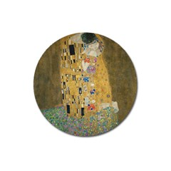 Klimt   The Kiss Magnet 3  (round) by ArtMuseum