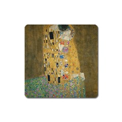 Klimt   The Kiss Magnet (square) by ArtMuseum