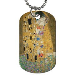Klimt   The Kiss Dog Tag (one Sided) by ArtMuseum