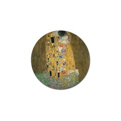 Klimt - The Kiss Golf Ball Marker by ArtMuseum