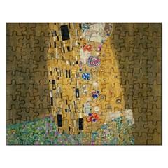 Klimt   The Kiss Jigsaw Puzzle (rectangle) by ArtMuseum