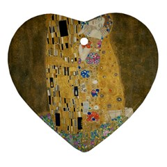 Klimt   The Kiss Heart Ornament (two Sides) by ArtMuseum