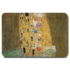 Klimt - The Kiss Large Door Mat by ArtMuseum