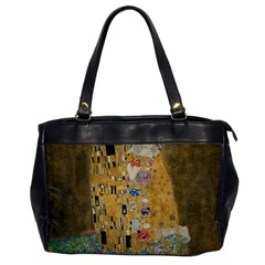Klimt   The Kiss Oversize Office Handbag (one Side) by ArtMuseum