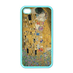 Klimt   The Kiss Apple Iphone 4 Case (color) by ArtMuseum