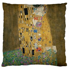 Klimt - The Kiss Large Cushion Case (Two Sides) by ArtMuseum