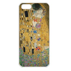 Klimt   The Kiss Apple Iphone 5 Seamless Case (white) by ArtMuseum