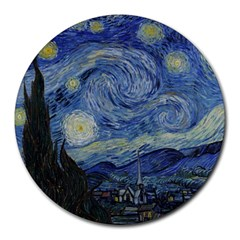 Starry Night 8  Mouse Pad (round)
