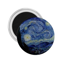 Starry Night 2 25  Button Magnet by ArtMuseum