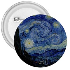 Starry Night 3  Button by ArtMuseum