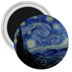 Starry Night 3  Button Magnet by ArtMuseum