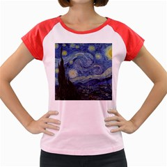 Starry Night Women s Cap Sleeve T Shirt (colored) by ArtMuseum