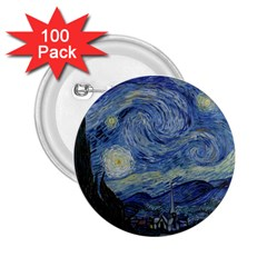 Starry Night 2 25  Button (100 Pack) by ArtMuseum