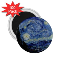 Starry Night 2 25  Button Magnet (100 Pack) by ArtMuseum