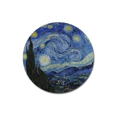 Starry night Magnet 3  (Round) by ArtMuseum