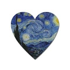 Starry Night Magnet (heart) by ArtMuseum