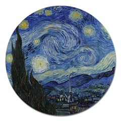 Starry Night Magnet 5  (round) by ArtMuseum