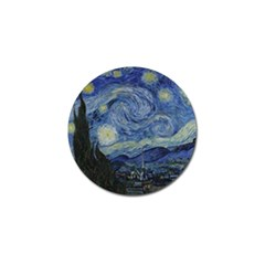 Starry Night Golf Ball Marker 10 Pack by ArtMuseum