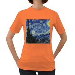 Starry Night Womens' T Shirt (colored) by ArtMuseum