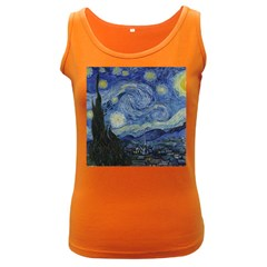 Starry Night Womens  Tank Top (dark Colored) by ArtMuseum