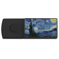 Starry Night 4gb Usb Flash Drive (rectangle) by ArtMuseum