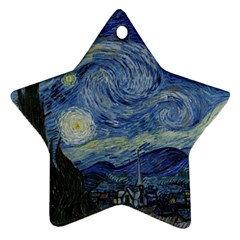 Starry night Star Ornament (Two Sides) by ArtMuseum