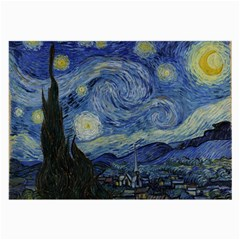 Starry Night Glasses Cloth (large, Two Sided) by ArtMuseum
