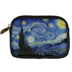 Starry Night Digital Camera Leather Case by ArtMuseum