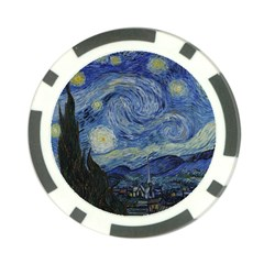 Starry Night Poker Chip 10 Pack by ArtMuseum