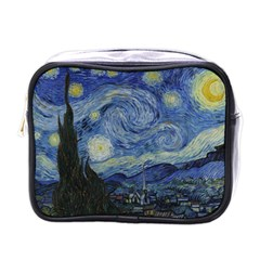 Starry Night Mini Travel Toiletry Bag (one Side) by ArtMuseum
