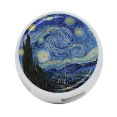 Starry Night 4 Port Usb Hub (two Sides) by ArtMuseum