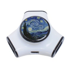 Starry Night 3 Port Usb Hub by ArtMuseum