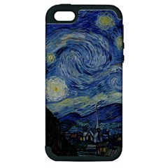 Starry Night Apple Iphone 5 Hardshell Case (pc+silicone) by ArtMuseum