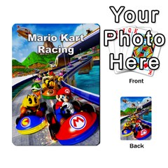 Mario Kart Racing Reedit Huan Solo Y Yun By Roger Orellana   Playing Cards 54 Designs   Qm9tq01aki19   Www Artscow Com Back