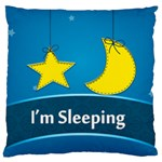 I m sleeping - Large Cushion Case (One Side)