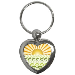 Along The Green Waves Key Chain (heart)