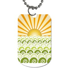 Along The Green Waves Dog Tag (one Sided) by tees2go