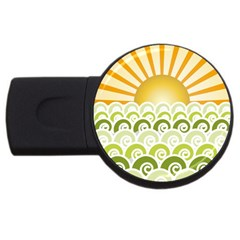 Along The Green Waves 4gb Usb Flash Drive (round) by tees2go