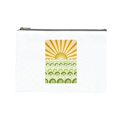 Along The Green Waves Cosmetic Bag (large) by tees2go