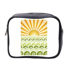 Along The Green Waves Mini Travel Toiletry Bag (two Sides) by tees2go