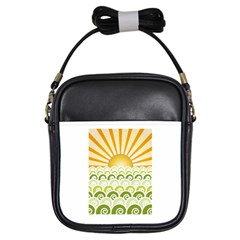 Along The Green Waves Girl s Sling Bag by tees2go