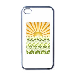 Along The Green Waves Apple Iphone 4 Case (black) by tees2go
