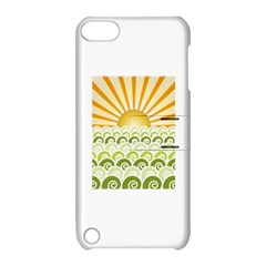 Along The Green Waves Apple Ipod Touch 5 Hardshell Case With Stand by tees2go