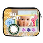 flower , kids, happy, fun, green - Apple iPad 2/3/4 Zipper Case