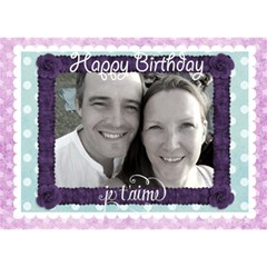 J taime Happy Birthday Card By Claire Mcallen   Birthday Cake 3d Greeting Card (7x5)   M5v94tg6rr8d   Www Artscow Com Front